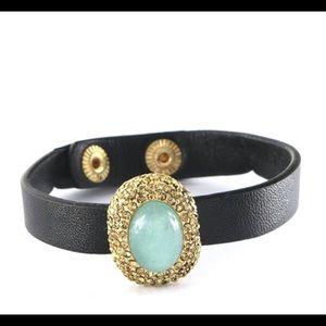 Jewelry - Leather Stone Bracelet